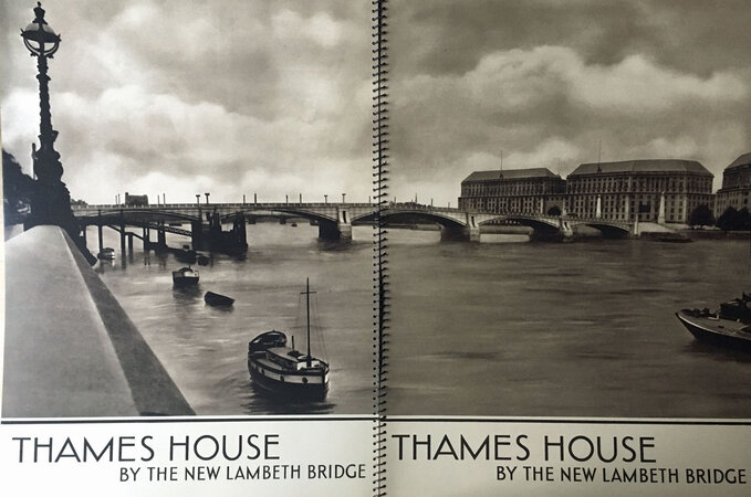 Thames house by the New Lambeth Bridge by [THAMES HOUSE] BAINES, Sir Frank (Architect) WORMALD, Charles photographs by